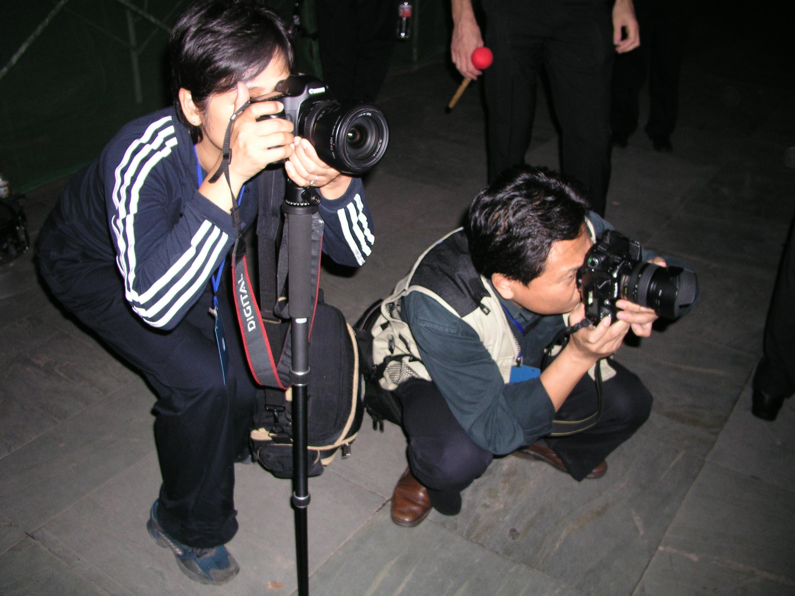 Pas d'événements en Chine sans les photohraphes